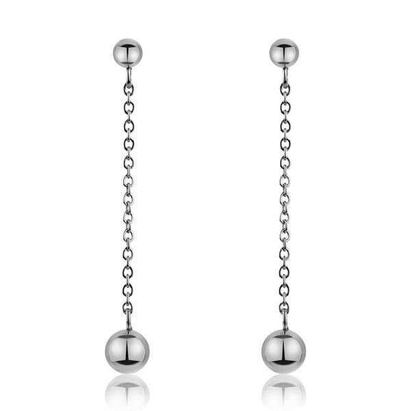 Smooth ezüstszínű rozsdamentes acél függő fülbevaló - Emily Westwood