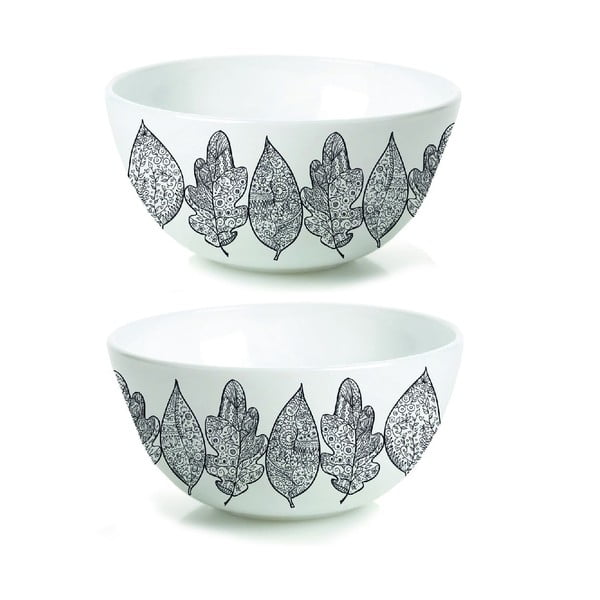 Sada 2 porcelánových misek Hojas