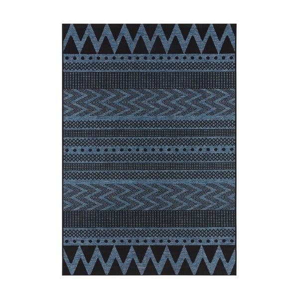 Covor potrivit pentru exterior Bougari Sidon, 70 x 140 cm, albastru închis