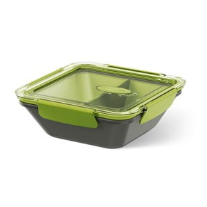 Box na jídlo Rectangular Black/Green, 0,9 l