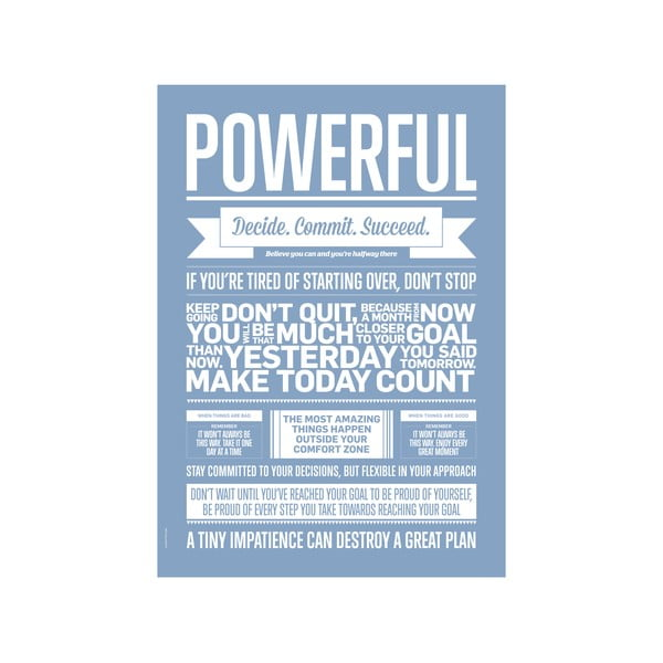 Autorský plakát Powerful Lavender, 70x100 cm