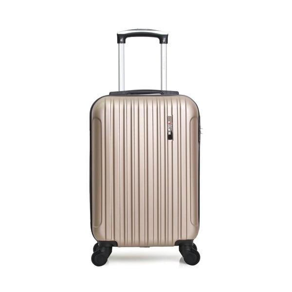 Skořepinové zavazadlo ve zlatavé barvě na 4 kolečkách Bluestar Lome, 31l