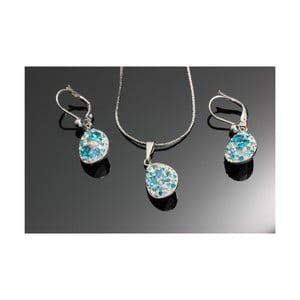 Set Swarovski Elements Droplets  Aqua
