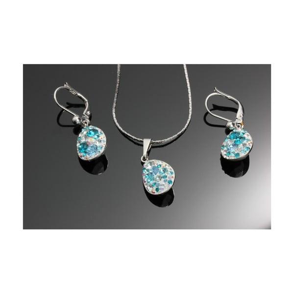 Set Swarovski Elements Droplets  Aqua