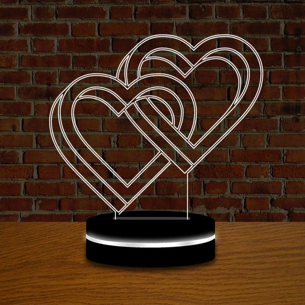 Světlo s 3D efektem Double Love