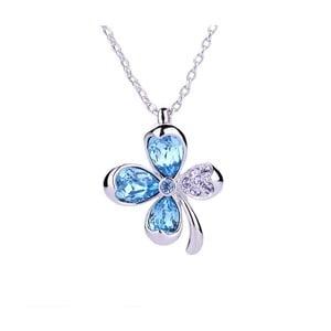 Náhrdelník s modrými krystaly Swarovski Elements Crystals Clover