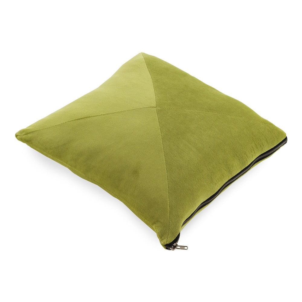 Limetkově zelený polštář Geese Soft, 45 x 45 cm