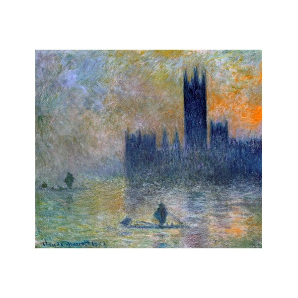 Obraz Claude Monet - The Houses of Parliament, 50x45 cm