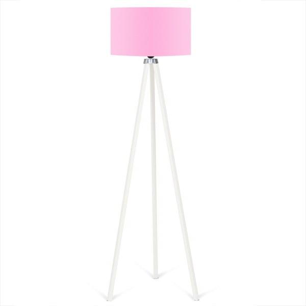 Lampadar Kate Louise Beyaz, roz deschis - alb