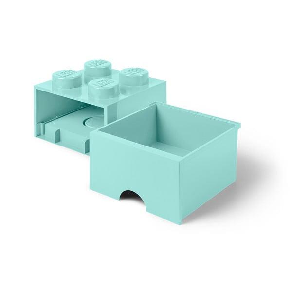 Cutie pătrată pentru depozitare LEGO®, verde mentă