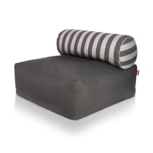 Puf Fatboy Tsjonge Dark Grey/Stripes Weave