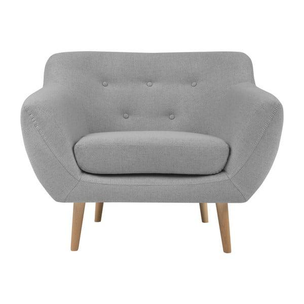 Sicile világosszürke fotel világos lábakkal - Mazzini Sofas