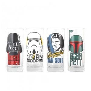Sada 4 sklenic Star Wars™ Characters, 300ml