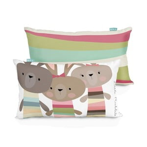 Bavlněný oboustranný povlak na polštář Little W Little Rabbits, 50x30cm