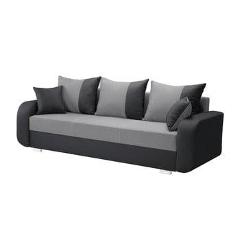 Canapea cu 3 locuri INTERIEUR DE FAMILLE PARIS Destin gri antracit