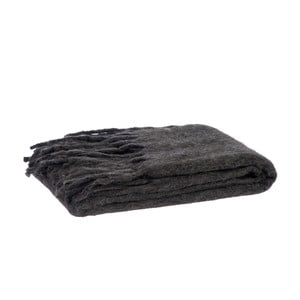 Pléd Fringes Grey, 125x150 cm
