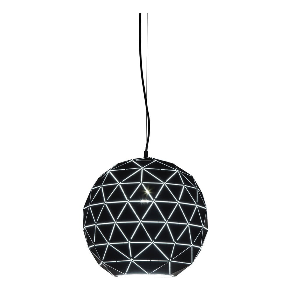 Černé stropní svítidlo Kare Design Triangle, Ø 40 cm