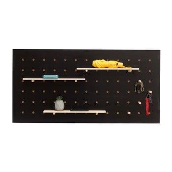 Organizator de perete Ragaba TRIVENTI, 120 x 60 cm, negru imagine