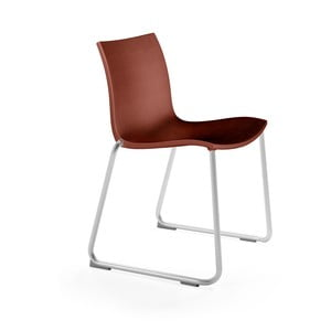 Červeno hnědá židle Mobles 114 Gimlet Sled