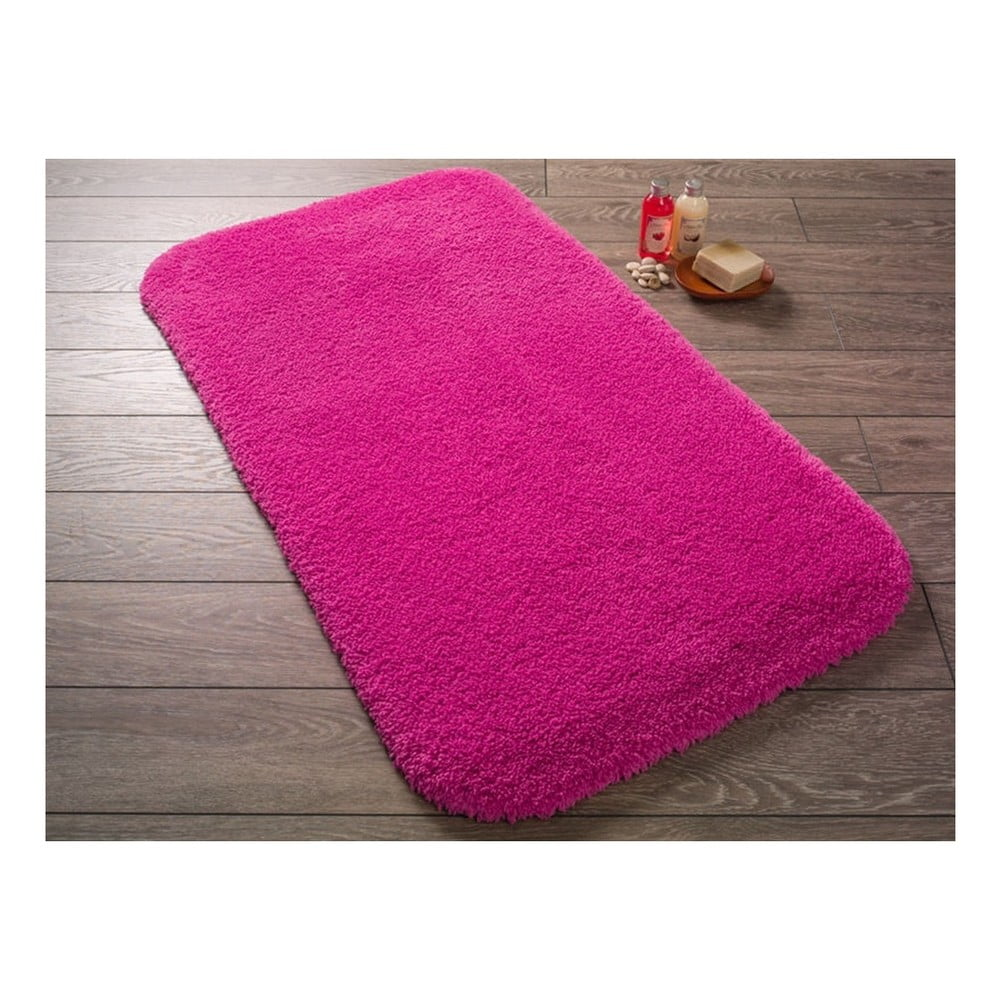 Fuchsiově růžová koupelnová předložka Confetti Bathmats Miami, 57x100cm