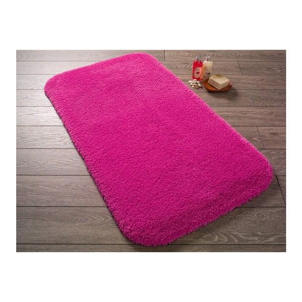 Fuchsiově růžová předložka do koupelny Confetti Miami, 67x120cm