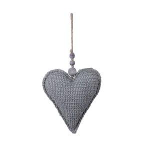 Látková závěsná ozdoba ve tvaru srdce Ego Dekor, 17,5 x 34 cm