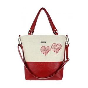 Červeno-béžová kabelka Dara bags Lele No.547