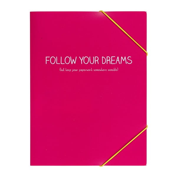 Desky na dokument Follow Your Dreams Pink Doc