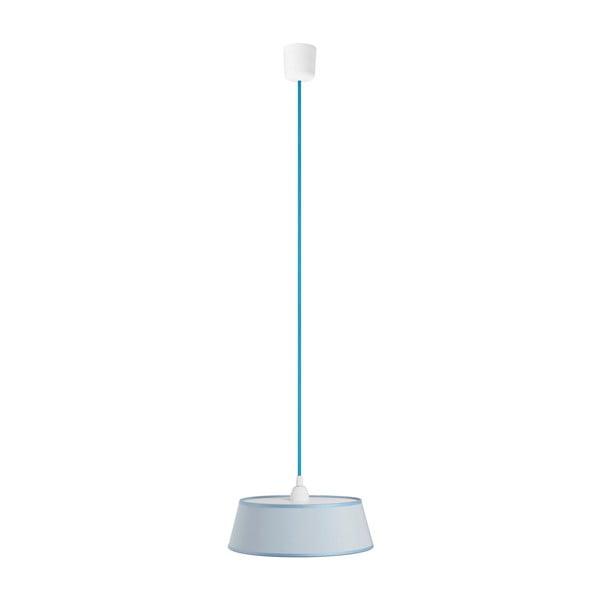 Závěsné světlo TAKO, světle modrá/modrý kabel