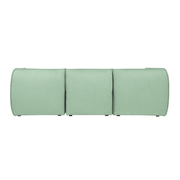 Mentolově zelená modulová rohová třímístná pohovka Norrsken Ollo