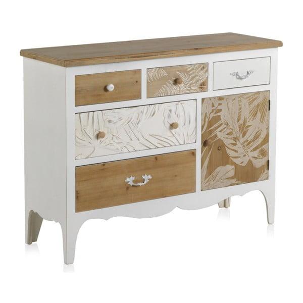 Dřevěná komoda s 6 zásuvkami Geese Natural