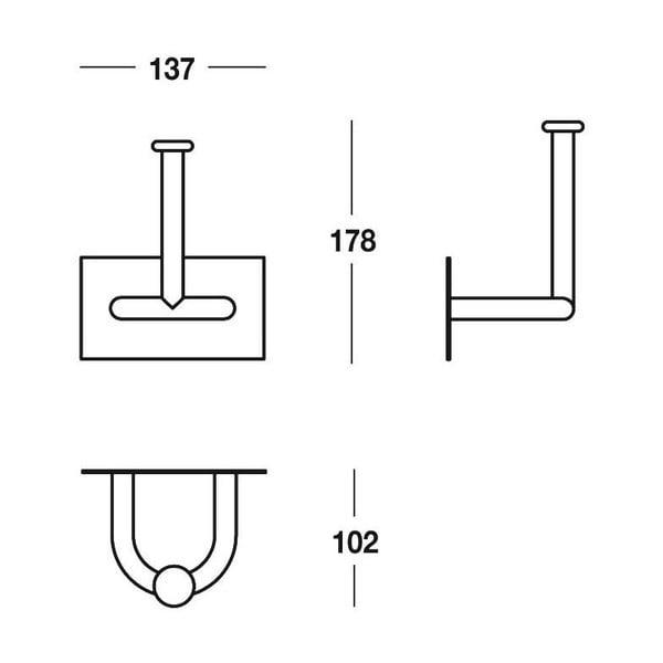 Držák na toaletní papír Chromo, 13,7x17,8x10 cm