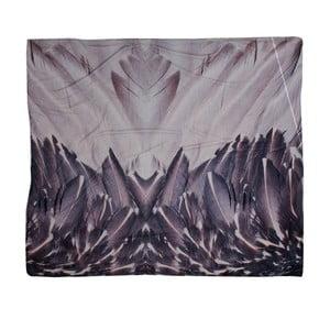 Hnědý pléd Clayre & Eef Feathers, 140x160cm