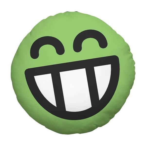 Polštář Emoji Green, 39 cm