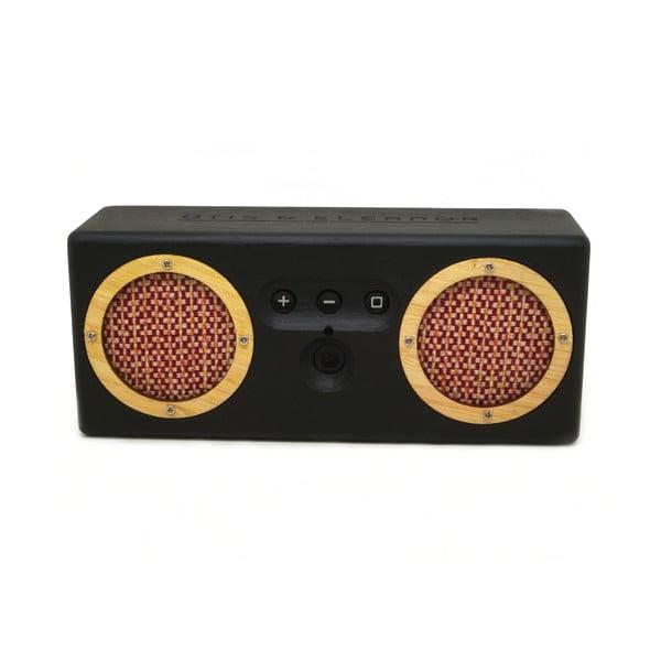 Přenosný bambusový speaker Red Tweed on Black Bongo