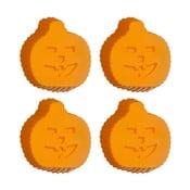 Sada 4 oranžových silikonových forem na cupcaky Premier Housewares Pumpkin