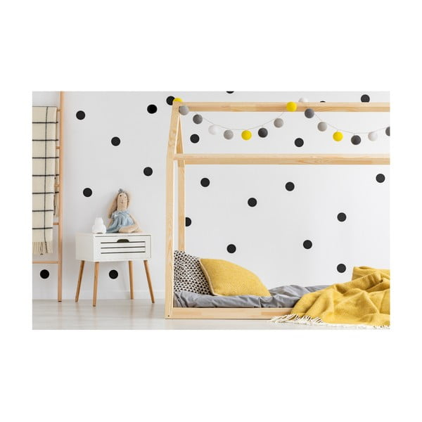 Cadru pat din lemn de pin, în formă de căsuță Adeko Mila MN, 160 x 200 cm