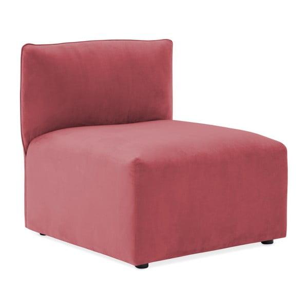 Červenorůžový prostřední modul pohovky Vivonita Velvet Cube