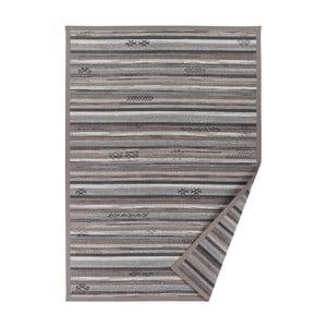 Šedobéžový vzorovaný oboustranný koberec Narma Liiva, 70x140cm