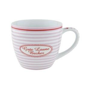 Porcelánový šálek Lines Gute Laune, růžový 4 ks