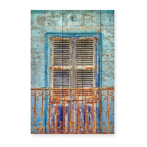 Tabliczka z drewna sosnowego Really Nice Things Balcony, 40x60cm