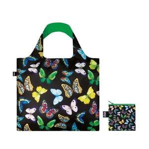 Skládací nákupní taška s kapsičkou LOQI Butterflies