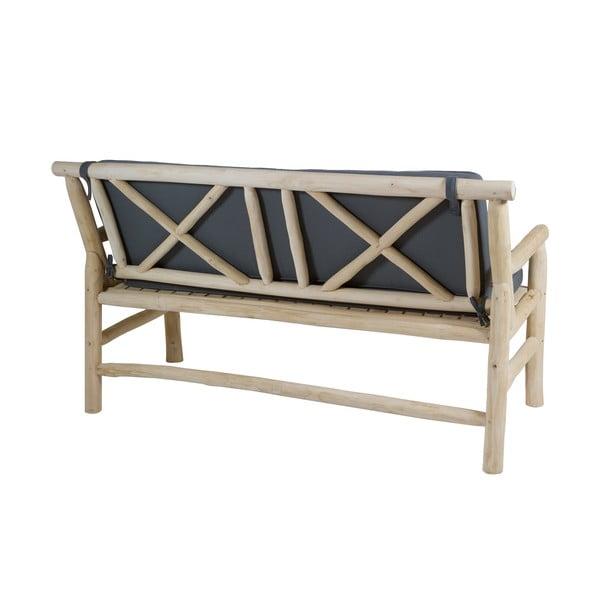 Canapea din lemn de tec cu șezut gri Santiago Pons Capri