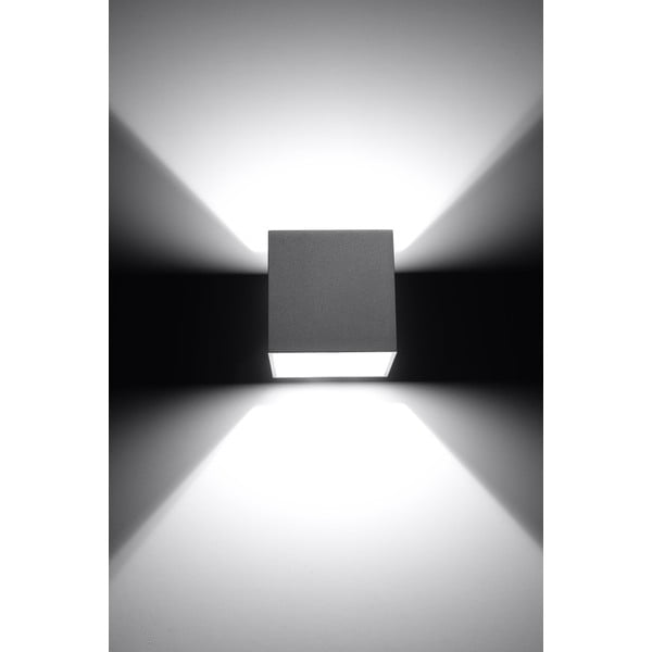 Šedé nástěnné světlo Nice Lamps Geo