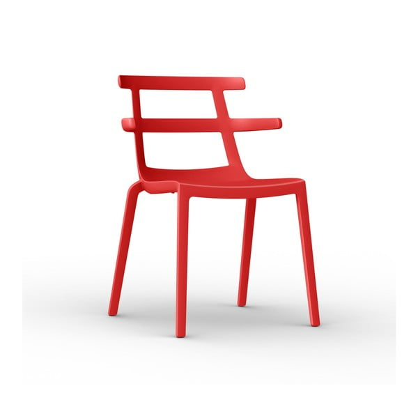 Sada 2 červených zahradních židlí Resol Tokyo