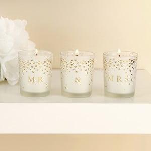 Sada 3 svíček Amore Love, 18hodinhoření