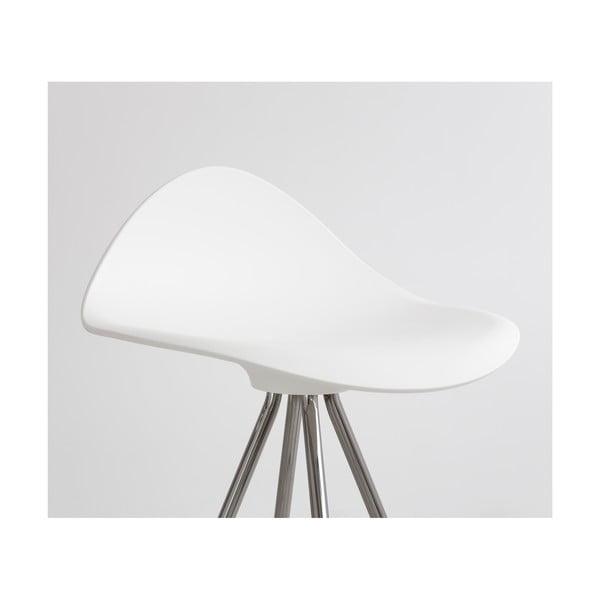 Bílá  stolička s chromovanými nohami Stua Onda, 76cm