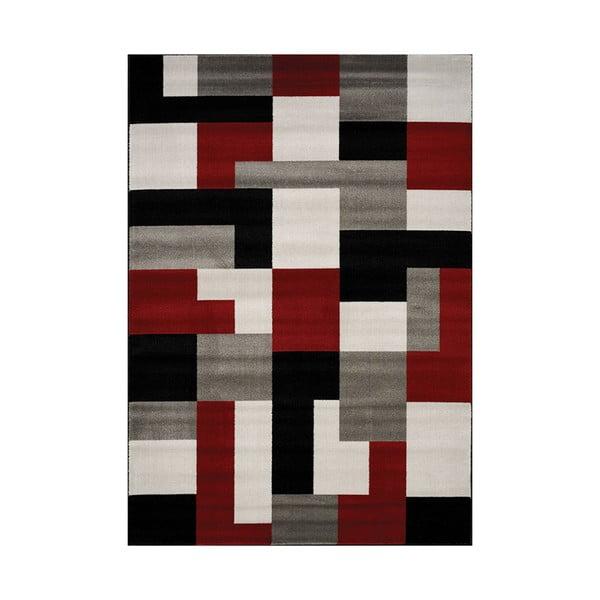 Šedo-červený koberec Webtappeti Manhattan Village,160x230cm