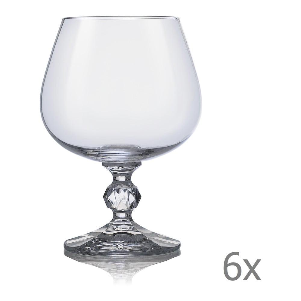 Sada 6 sklenic na brandy Crystalex Claudia, 250 ml
