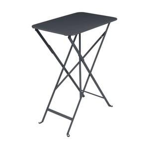 Antracitově šedý zahradní stolek Fermob Bistro, 37 x 57 cm